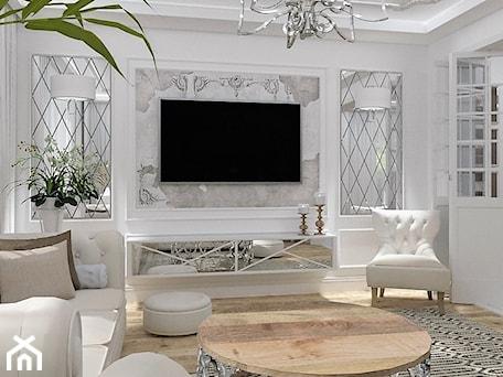 Aranżacje wnętrz - Salon: Salon Primavera 2 - Średni biały salon, styl glamour - LuArt Design. Przeglądaj, dodawaj i zapisuj najlepsze zdjęcia, pomysły i inspiracje designerskie. W bazie mamy już prawie milion fotografii!