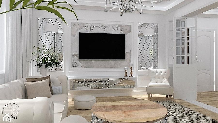 Salon Primavera 2 - Średni biały salon, styl glamour - zdjęcie od LuArt Design