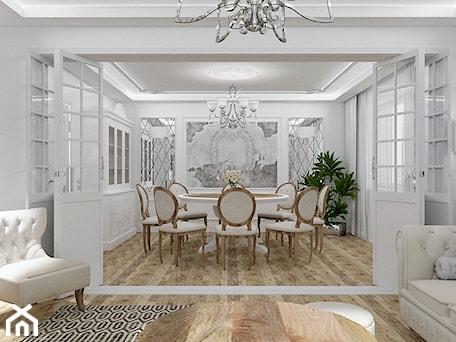 Aranżacje wnętrz - Jadalnia: Salon Primavera 2 - Duża zamknięta biała jadalnia jako osobne pomieszczenie, styl glamour - LuArt Design. Przeglądaj, dodawaj i zapisuj najlepsze zdjęcia, pomysły i inspiracje designerskie. W bazie mamy już prawie milion fotografii!
