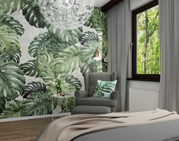 Pokój nastolatki - Mały biały zielony pokój dziecka dla dziewczynki dla nastolatka, styl skandynawski - zdjęcie od LuArt Design