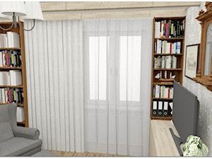 Pokój statecznego Pana - Małe szare biuro domowe w pokoju - zdjęcie od LuArt Design