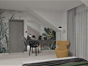 Sypialnia z tapetą od Wonderwall
