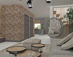 Projekt domu jednorodzinnego Wiry - Duży szary salon, styl nowoczesny - zdjęcie od LuArt Design
