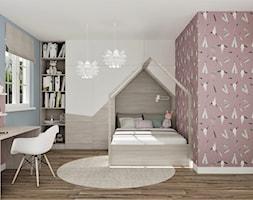 Skandynawski pokój BOHO dla dziewczynki - Pokój dziecka, styl skandynawski - zdjęcie od LuArt Design - Homebook