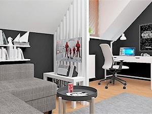 Pokój fana Gwiezdnych Wojen - Duży biały czarny pokój dziecka dla chłopca dla dziewczynki dla ucznia dla nastolatka, styl skandynawski - zdjęcie od LuArt Design