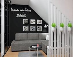 Pokój fana Gwiezdnych Wojen - Mały biały czarny pokój dziecka dla chłopca dla dziewczynki dla nastolatka, styl skandynawski - zdjęcie od LuArt Design