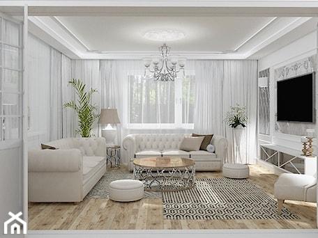 Aranżacje wnętrz - Salon: Salon Primavera 2 - Duży biały salon, styl glamour - LuArt Design. Przeglądaj, dodawaj i zapisuj najlepsze zdjęcia, pomysły i inspiracje designerskie. W bazie mamy już prawie milion fotografii!