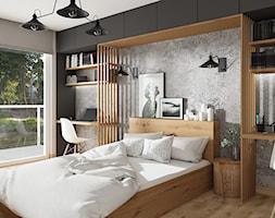 Sypialnia, styl industrialny - zdjęcie od LuArt Design - Homebook