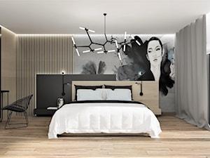 Sypialnia z tapetą MINORI