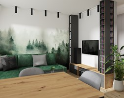 Salon, styl industrialny - zdjęcie od LuArt Design - Homebook