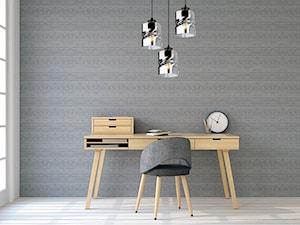 Domowe biuro urządzone z lampami LihgtHome