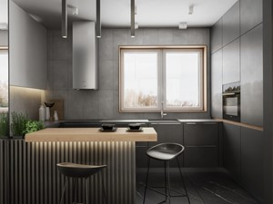 Dom w Pniowie - KUCHNIA - Spacja Studio