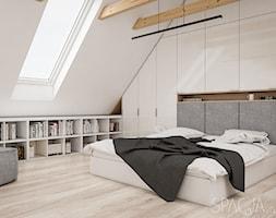 Dom w Szwecji - sypialnia na antresoli - Spacja Studio - zdjęcie od Spacja Studio