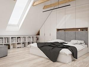 Dom w Szwecji - sypialnia na antresoli
