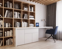 Domowe+biuro+-+DOM+W+%C5%81AZACH+-+Spacja+Studio+-+zdj%C4%99cie+od+Spacja+Studio