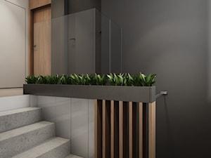 Klatka schodowa w domu w Pniowie autorstwa pracowni Spacja Studio. - zdjęcie od Spacja Studio