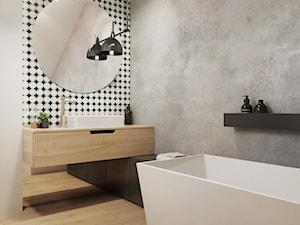 Łazienka na poddaszu - DOM W ŁAZACH - Spacja Studio