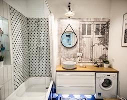 50 + 30 metrów kwadratowych - Średnia biała łazienka bez okna, styl skandynawski - zdjęcie od Tak Po Prostu Wnętrza