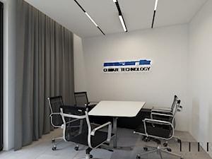 Projekt wnętrza biura - Małe szare biuro pracownia, styl nowoczesny - zdjęcie od LIBRA Architekci