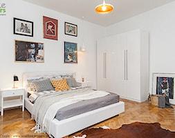 Mieszkanie na wynajem - Kraków, ul. Szymanowskiego - Duża biała sypialnia małżeńska, styl nowoczesn ... - zdjęcie od Tomasz Chruściel - Homebook