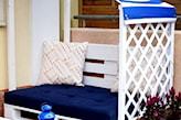 balkonowa ławka z palet