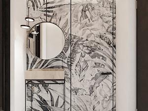 P_08_2017_TARNOWSKIE GÓRY - Mały biały czarny hol / przedpokój, styl nowoczesny - zdjęcie od KREOWNIA studio projektowe