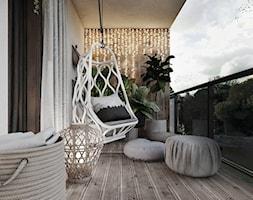 P_03_2018_KATOWICE - Duży taras z tyłu domu, styl nowoczesny - zdjęcie od KREOWNIA studio projektowe