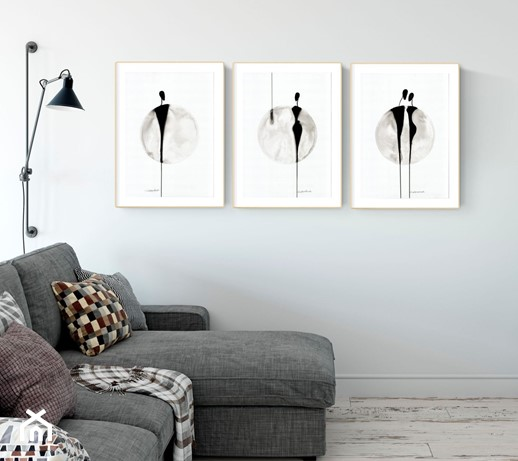 Duże Obrazy Do Salonu Ręcznie Malowane Abstrakcja Czarno Biała Elegancki Minimalizm Zdjęcie Od Krystyna Siwek Art Grafika I Obrazy Homebook