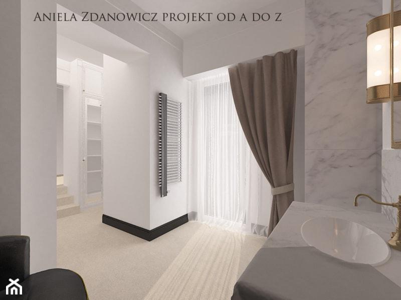 Projekt Połączenia łazienki Z Garderobą łazienka Styl