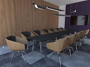 Wnętrza Biur - Duże szare biuro pracownia, styl nowoczesny - zdjęcie od T3Inwest