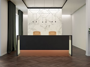 Projekty wnętrz biurowych - wizualizacje - Wnętrza publiczne - zdjęcie od T3 Atelier