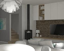 Salon z kuchnią - zdjęcie od PUFA STUDIO