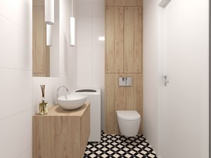 Mała łazienka z patchwork - zdjęcie od PUFA STUDIO