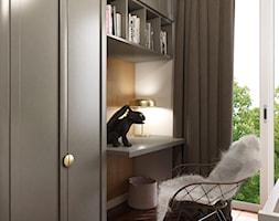 MO Kraków Apartment - Mały szary pokój dziecka dla chłopca dla dziewczynki dla ucznia dla malucha dla nastolatka, styl nowojorski - zdjęcie od STELLARstudio