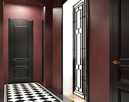 J Podgórze Kraków Apartment - Średni czerwony hol / przedpokój, styl art deco - zdjęcie od STELLARstudio