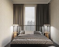 MA Kazimierz Kraków Apartment - Mała beżowa biała sypialnia małżeńska, styl eklektyczny - zdjęcie od STELLARstudio