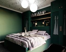 MA Kazimierz Kraków Apartment - Mała zielona sypialnia małżeńska, styl eklektyczny - zdjęcie od STELLARstudio