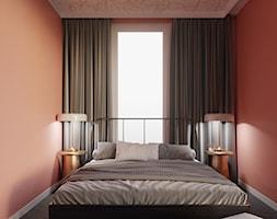 MA Kazimierz Kraków Apartment - Mała brązowa sypialnia małżeńska, styl eklektyczny - zdjęcie od STELLARstudio