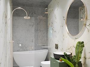 projekt TUCANA - Średnia łazienka w bloku w domu jednorodzinnym bez okna, styl glamour - zdjęcie od STELLARstudio