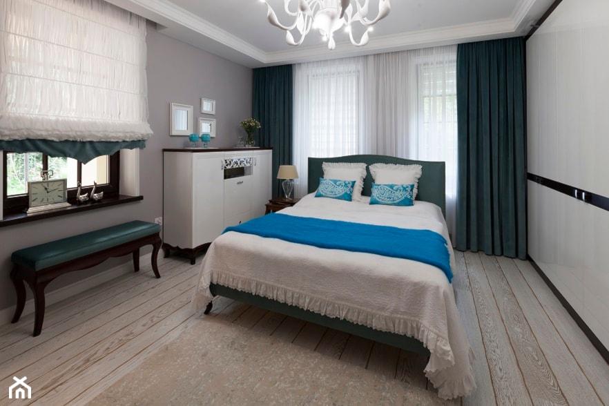 Sypialnia - Średnia szara sypialnia małżeńska - zdjęcie od ARTDOM Pracownia Projektowa Renata Modrzyńska-Kasiak - Homebook