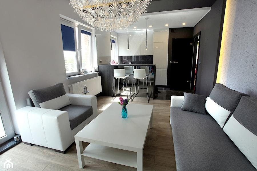 Konkurs - Salonz aneksem kuchennym w mieszkaniu z biurem - zdjęcie od ARTDOM Pracownia ...