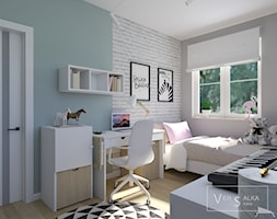 Przytulnie i kobieco w pastelach. Aranżacja wnętrza mieszkania w Straszynie - zdjęcie od STUDIO PROJEKTOWANIA WNĘTRZ - VERSALKA STUDIO AGATA KOMAR - Homebook