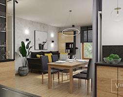 Luksusowe wnętrze na bazie drewna i czerni. 80 m² w Gdyni Chwarzno Fort Forest - zdjęcie od STUDIO PROJEKTOWANIA WNĘTRZ - VERSALKA STUDIO AGATA KOMAR - Homebook