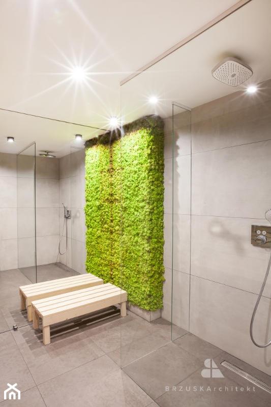 ściana Z Mchu W łazience Zdjęcie Od Brzuskarchitekt