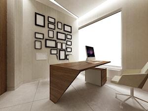 Gabinet lekarski - wizualizacja - Średnie szare biuro pracownia, styl nowoczesny - zdjęcie od BRZUSKArchitekt - Alicja Brzuska