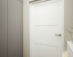 BIEL i piasek - Mały beżowy hol / przedpokój, styl nowoczesny - zdjęcie od 2xKO Studio