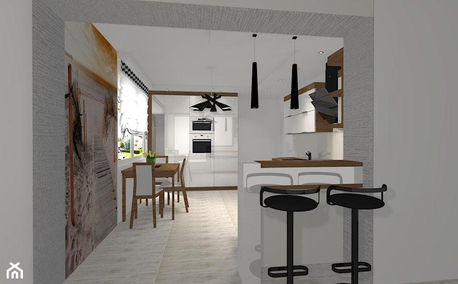Kuchnia Z Mini Barkiem Zdjęcie Od Mk Projekt Meble Homebook