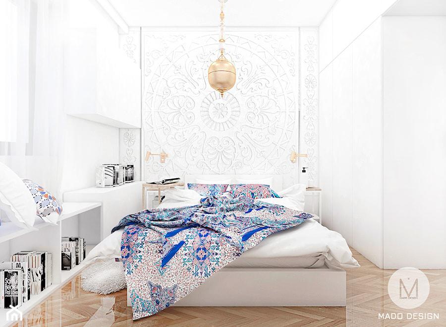 Projekt Sypialni W Stylu Orientalnym średnia Biała