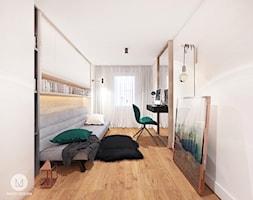 PROJEKT MAŁEGO POKOJU 9 m2 / KRAKÓW. - Średnia biała sypialnia dla gości małżeńska, styl skandynawski - zdjęcie od MADO DESIGN Projekty Wnętrz - Kraków