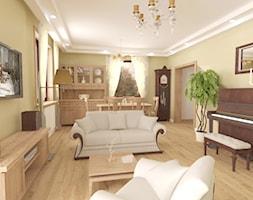 Salon tematyczny w domu wolno stojącym ok. 35m² - zdjęcie od MAKAREWICZ Projekt